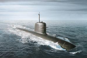 Scorpène® submarine at sea